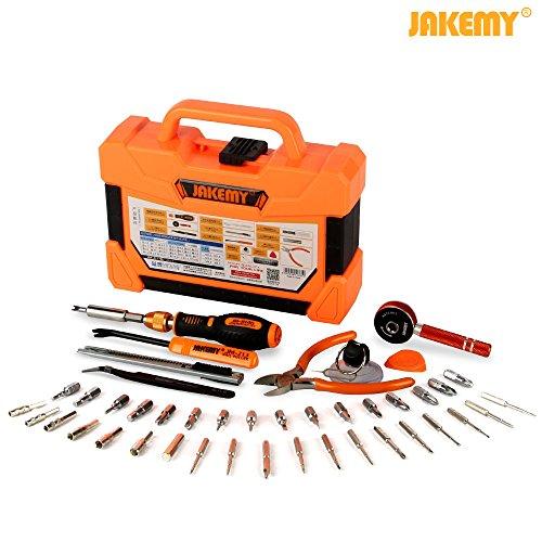 Jakemy JM-8146 47 in1 Household Maintenance Screwdriver Set Hardware Tool Kit for Household, Mobile Cellphone Tablet Laptop Electronics