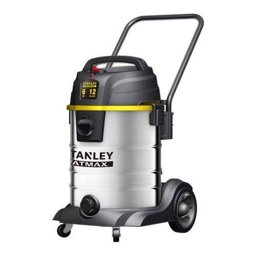 Stanley Fatmax SL18501-12B Wet Dry Vacuum 12 Gallon 6 Peak HP Stainless Steel