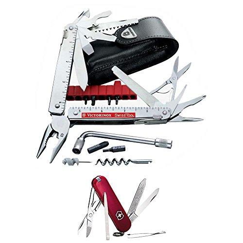 Victorinox Swiss Army SwissTool Swiss Army KnifePouch with Victorinox Swiss Army CLASSIC SD Red Pocket Knife