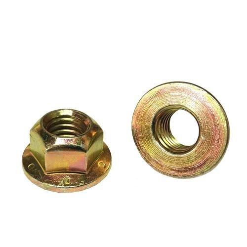 50 38-16 Hex Flange Prevailing Torque Lock Nuts Grade G 8 Yellow