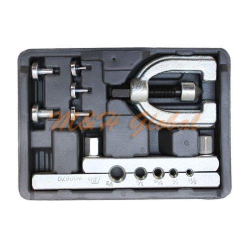 7 PC Double Flare Tool Kit Flaring Tool Set Brake Pipe Line