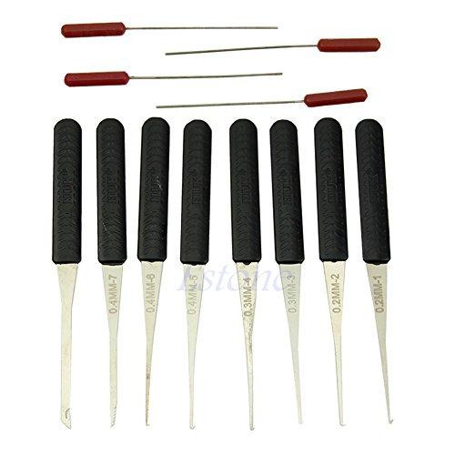 C18 2015 New 12Pcs Black Lock Broken Key Extractor Remove Removal Hooks Needle Tool Kit free shipping