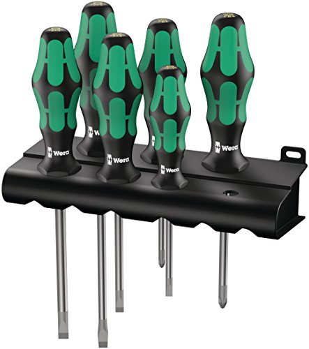 Wera Kraftform Plus 3346 Screwdriver Set with Rack and Lasertip 6-Pieces