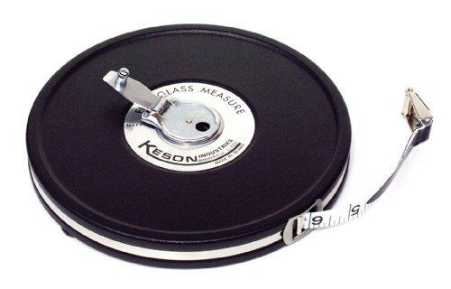 Keson MC1050 50 Feet Closed Metal Housing Fiberglass Measuring Tape in Tenths by Keson
