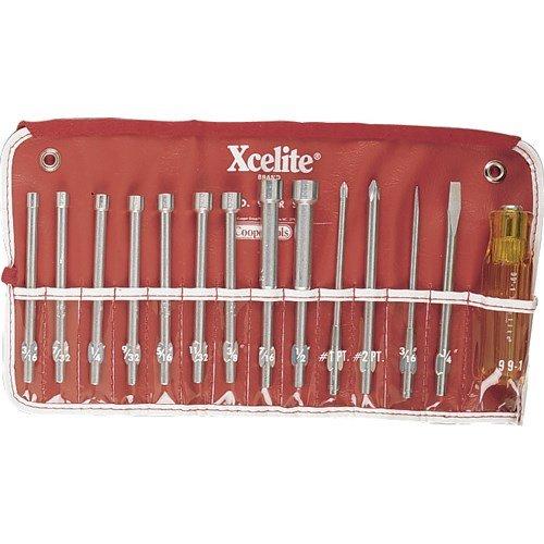 Xcelite 99PR 14-pc Tool Kit in Roll Pouch