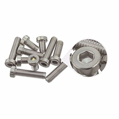 M5 10mm Low Head Cap Metric Hex Socket Screw Bolt Stainless Steel - Pack of 10