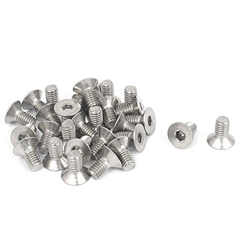 uxcell M6 x 12mm Metric Hex Socket Countersunk Flat Head Screw Bolts 30PCS