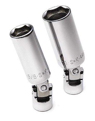 SK 4492 2 Piece 38-Inch Drive 58-Inch and 916-Inch Flex Spark Plug Socket Set