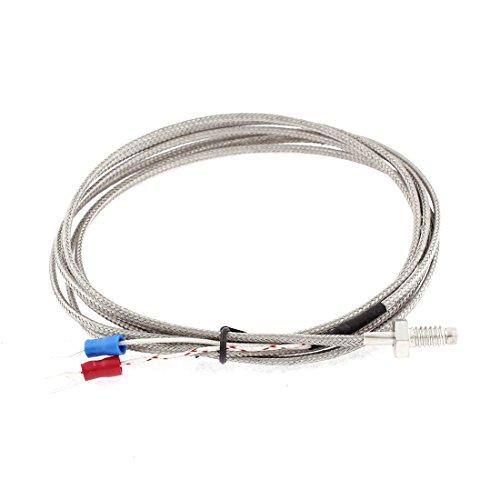 Uxcell K Type 0-400C M6 Thread Screw Thermocouple Sensor 2M 66 Length