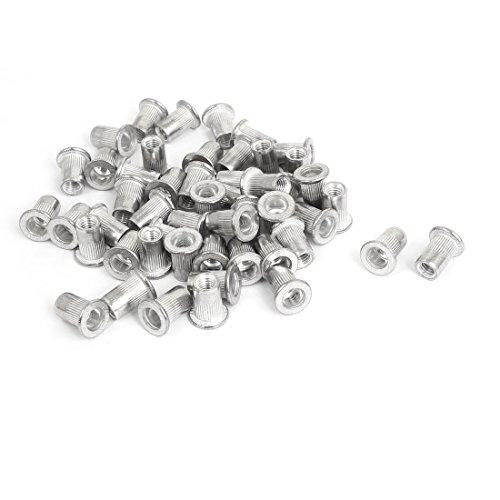 uxcell M6 Thread Aluminum Rivet Nut Insert Nutsert 50pcs