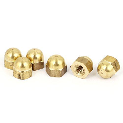 Uxcell a16032200ux1055 M8 Thread Dome Head Brass Cap Acorn Hex Nuts