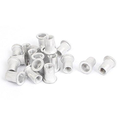 uxcell M8 Thread Aluminum Rivet Nut Insert Nutsert 20pcs