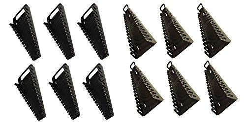 6PACK- ERNST Mfg 5089 BK  5189 BK GRIPPER 15 Wrench Organizer-YES 6 each