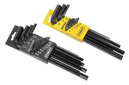 Stanley 85-753 22 Piece Long Arm SAE Metric Hex Key Set