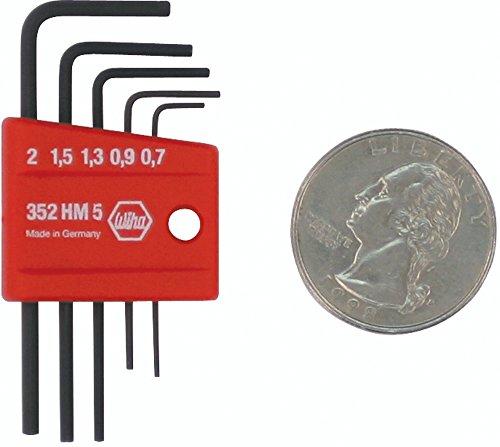Wiha 35392 5 Piece Mini L-Key Short Hex Metric Set