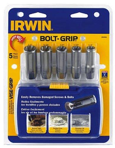 IRWIN Tools BOLT-GRIP Deep Well Bolt Extractor Set 5-Piece 3094001