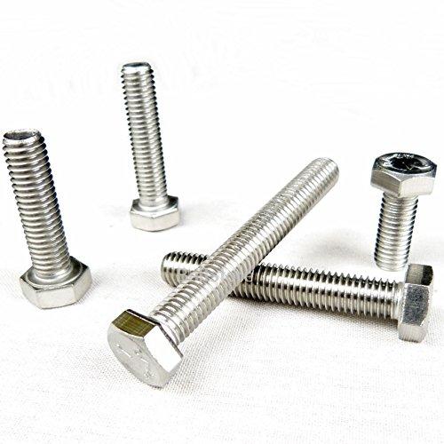M12 x 55 A2 STAINLESS STEEL HEXAGON HEX HEAD SETSCREWS SCREW BOLTS 10 PACK
