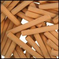 WIDGETCO 14 x 2-14 Wood Dowel Pins Multi-Groove