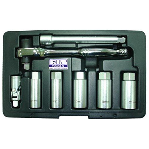 FIT TOOLS 8 PCS 38 Torque Limited Ratchet and Spark Plug Socket Kit