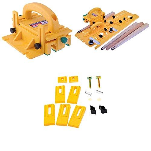 Microjig Grr-Ripper 3D Pushblock w MicroJig TJ-5000 Microdial Tapering Jig Microjig GRR-Ripper Gravity Heel Accessory Kit