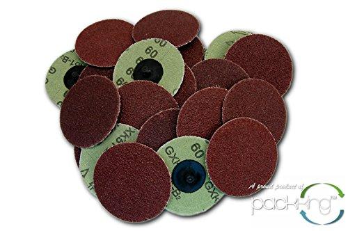 25 PC 3 Inch Roloc Discs 60 Grit Coarse R Type Sanding Abrasives
