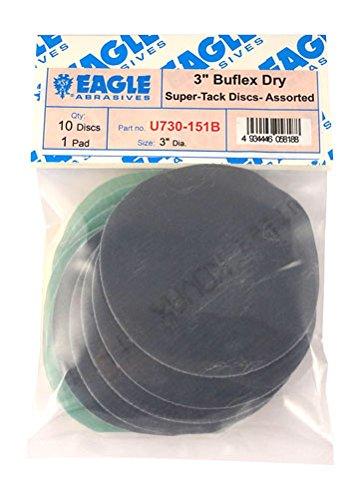 Eagle U730-151B - 3 inch SUPER-TACK Mini Buflex Discs - Assorted - Job-Pak - 10 Discs  1 padPack