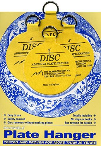 Flatirons Disc Adhesive Medium Plate Hanger Set 4 - 3 Inch Hangers