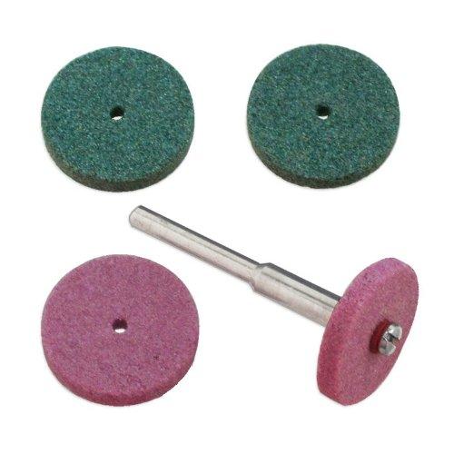 5pc Grinding Stone Wheel Set 34 Fits Dremel Aluminum Oxide Silicon Carbide - Grind Steel Titanium Carbide