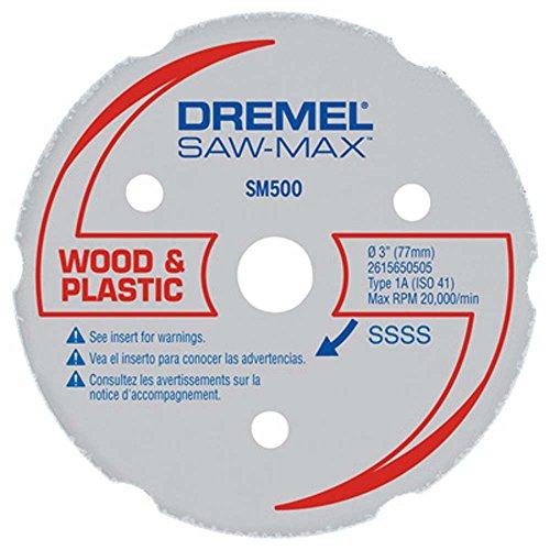 ToolUSA 3 Genuine Dremel Brand Wood And Plastic Carbide Wheel LDRE-SM500   Pack of 1 Pc  LDRE-SM500-D01
