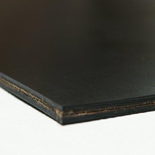 Heavy Black Conveyor Belt - Rubber Sheet - 413Ply Thick x 3 Width x 144 Length - Black