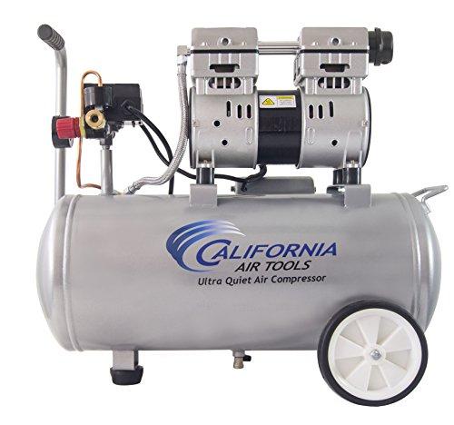 California Air Tools 8010 Ultra Quiet Oil-Free 10 hp Steel Tank Air Compressor 8 gal Silver