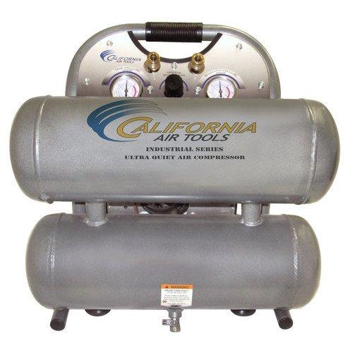 California Air Tools CAT-4610ALFC 1 HP 46 Gallon Ultra Quiet Aluminum Twin Tank Air Compressor