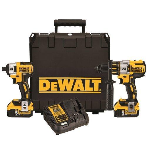 Dewalt DCK296P2 20V XR Brushless Hammerdrill Impact Driver Combo Kit with 2 50 Ah Batteries