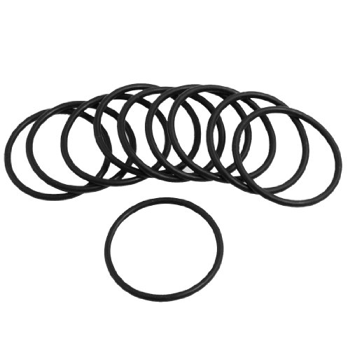 Uxcell 10 Pcs Black Rubber 29Mm x 2Mm Oil Seal O Rings Gaskets Washers