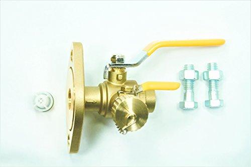 1 Threaded Isolator w MF Drain Rotating Swivel Flange High Velocity - Lead Free