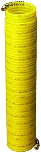 Amflo 4-50E-RET Yellow 200 PSI Nylon Recoil Air Hose 14 x 50 With 14 MNPT Swivel End Fittings