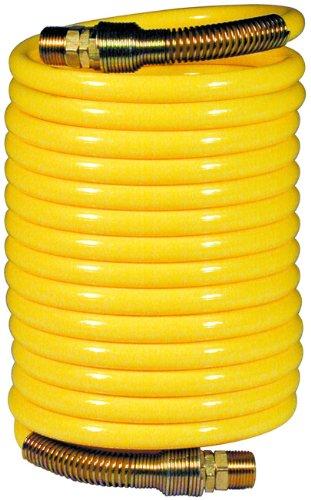 Amflo 6-25 Yellow 200 PSI Nylon Recoil Air Hose 38 x 25 With 38 MNPT Swivel End Fittings