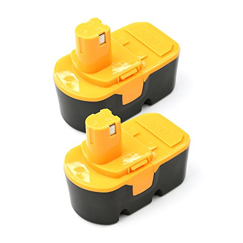 2-PackForceAtt ABP1801 18V 30Ah 54Wh Rechargeable Ni-CD Replacement Cordless Power Tool Battery for Ryobi 130224048ABP1801ABP1803BCP18172SMBlack-Yellow