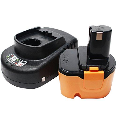 Ryobi 12v Battery Replacement 1300mAhNICD  Universal Charger for Ryobi Power Tool Battery and Charger - Compatible with Ryobi 1400652 Ryobi CCD1201 Ryobi CHD1201 Ryobi CHD1202