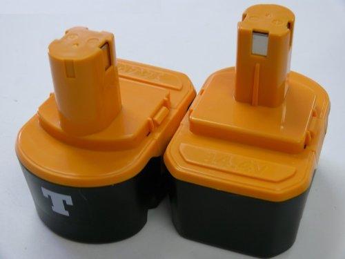 Titan-- TWO BATTERIES For RYOBI 144V Power Tool 130111073 130224010 1400671 BATTERY X2
