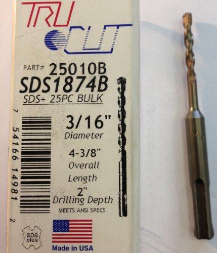 SDS Masonry Carbide Tipped Drill Bits 316 x 4-38 Box of 1 BC-SDS316438