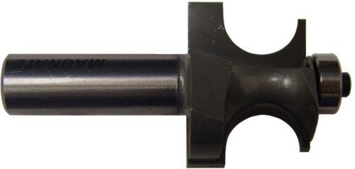 Magnate S5806 Edge Beading Carbide Tipped Router Bit - 58 Bead Diameter 12 Shank Diameter