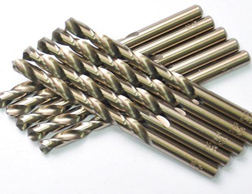 DRILLFORCE 5PCS2164 Inch HSS Jobber Cobalt Twist Drill Bitsideal for drilling on mild steel copper Aluminum Zinc alloy etc