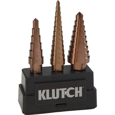 - Klutch Cobalt Step Drill Bit Set - 316in to 34in Dia 3-Pc Set