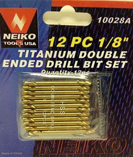 12pc 18 Double End Titanium Bits- HSS