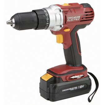 Chicago Electric 18 Volt Cordless 12 DrillDriver with Keyless Chuck