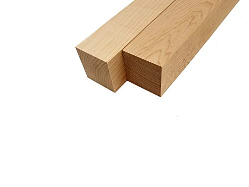 Hard Maple Lumber Turning Blank Squares - 25 x 25 x 18 2 Pcs