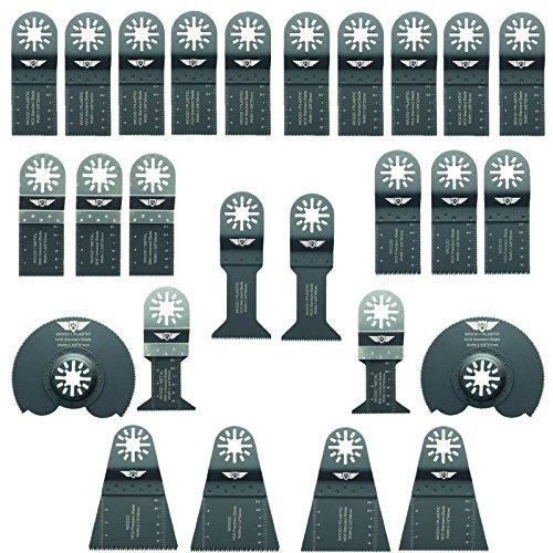 26 x TopsTools UNKA26A OMT Mix Blades for Bosch Fein MultiMaster Non-StarLock Makita Milwaukee Genesis Chicago Craftsmen Nextec Rockwell Ryobi Hitachi Multi Tool Accessories