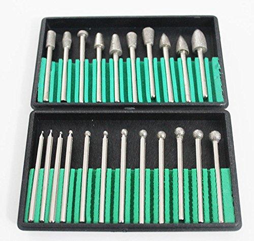 Generic LQ8LQ2712LQ Burr D Burr Drill Bit Quality Diamond Coated it Ceramics Stone mics St 22pc Grit 150 Glass Grit 150 US6-LQ-16Apr15-1409