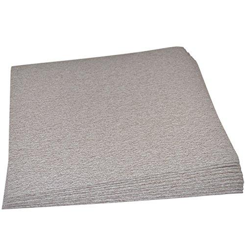 HQRP 9 x 11 Aluminum Oxide Sandpaper 80 Grit 10 Pack